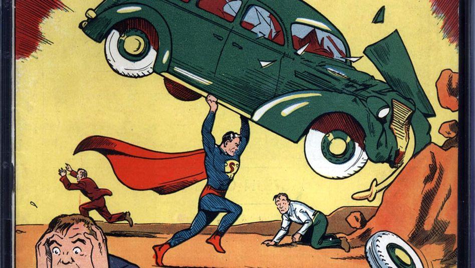 Titelbild der ersten Superman-Ausgabe: Seither ist das Comic weit gekommen