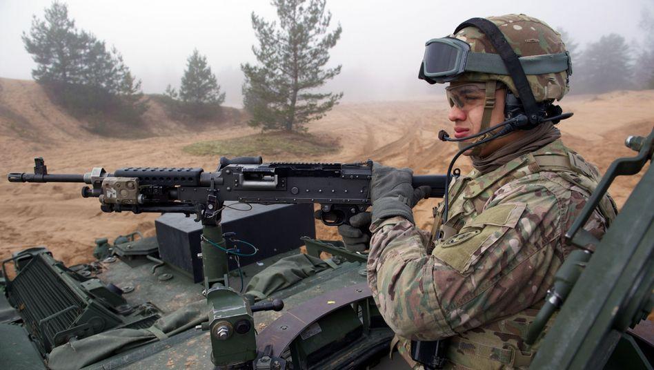 US-Soldat (im Februar in Lettland): Ausbildungsmission in der Ukraine
