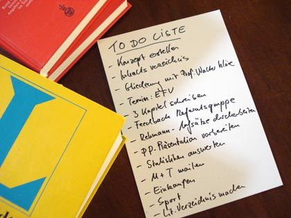 To-Do-Liste: Pläne machen ist gut, reicht aber nicht