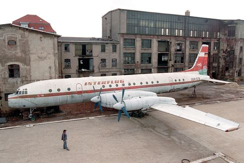 A plane similar to this one will become a hotel in Holland. The plane in the picture is on the grounds of a former factory in Leipzig.