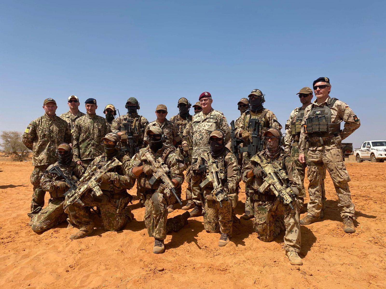 Bundeswehr-Kampfschwimmer in Niger / Afrika