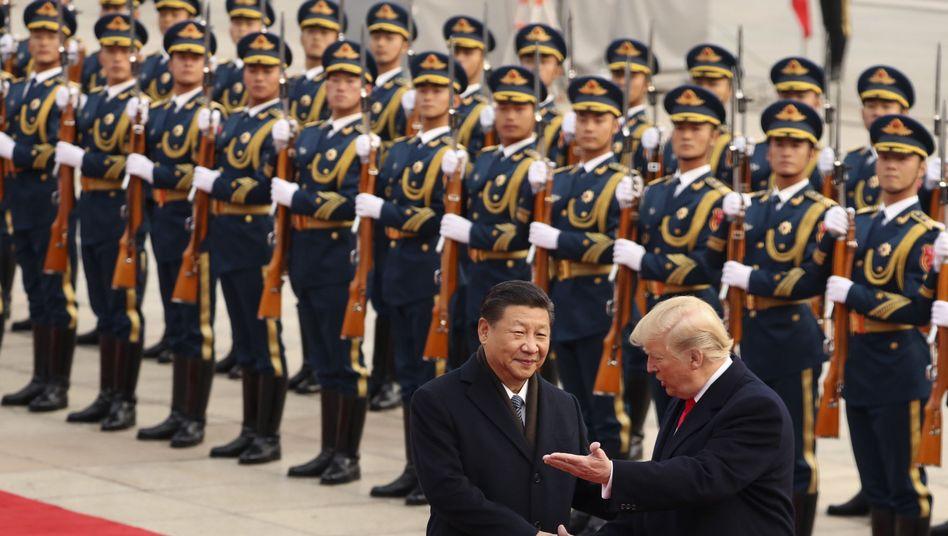 Präsidenten Xi Jinping (links), Donald Trump