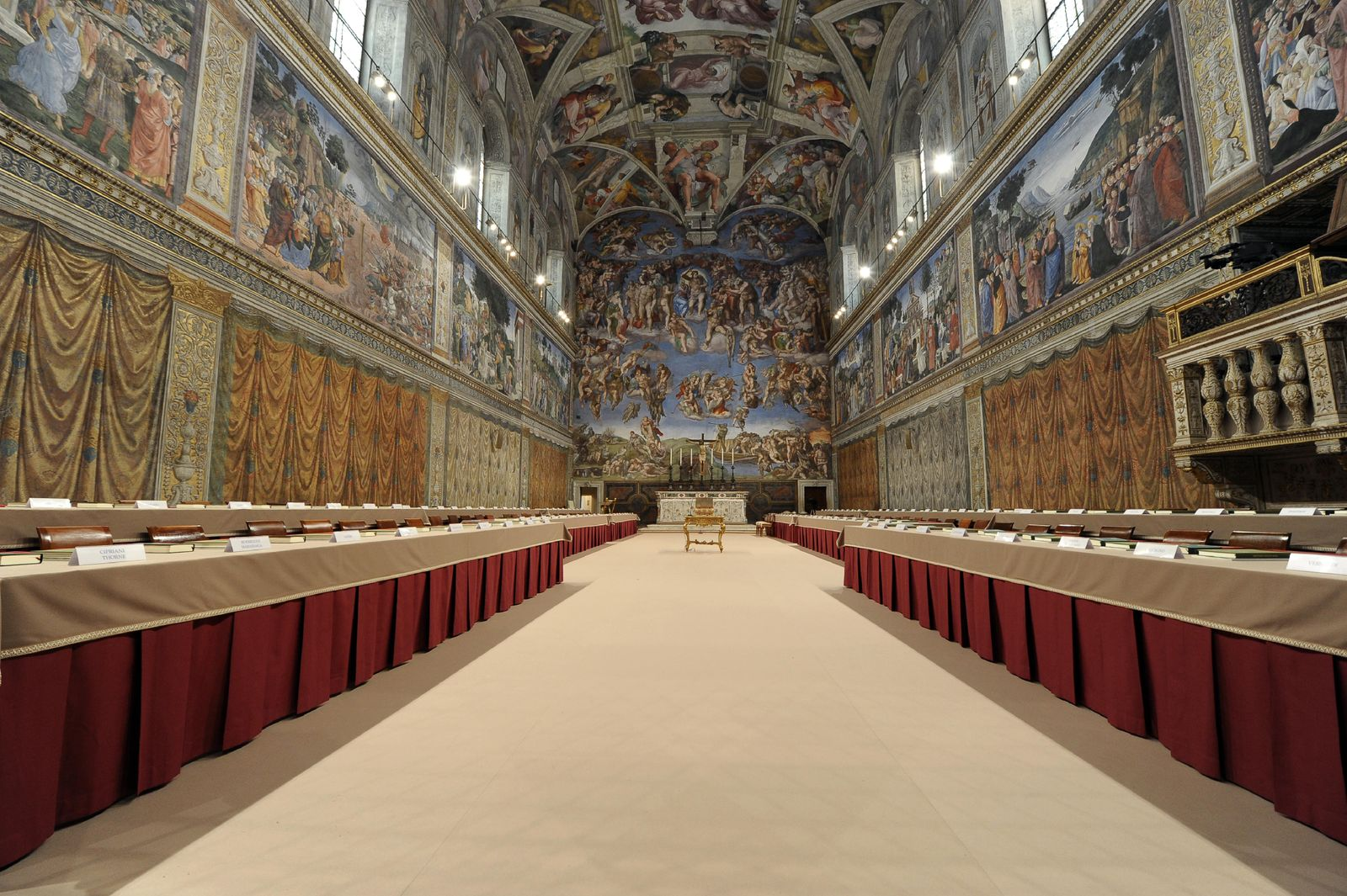 Sistine Chapel/ VATICAN-POPE-CONCLAVE-SISTINE