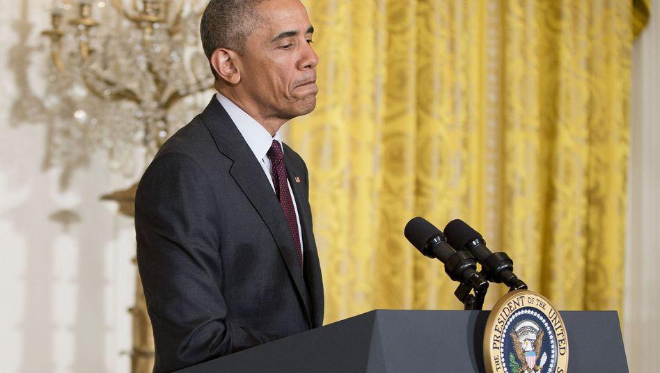US-Präsident Obama: Frust - und regelmäßig weitere Schüsse