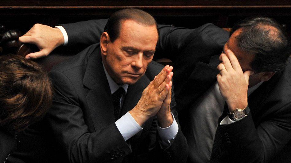 Italiens Regierungschef Berlusconi: Rüge von der Rating-Agentur