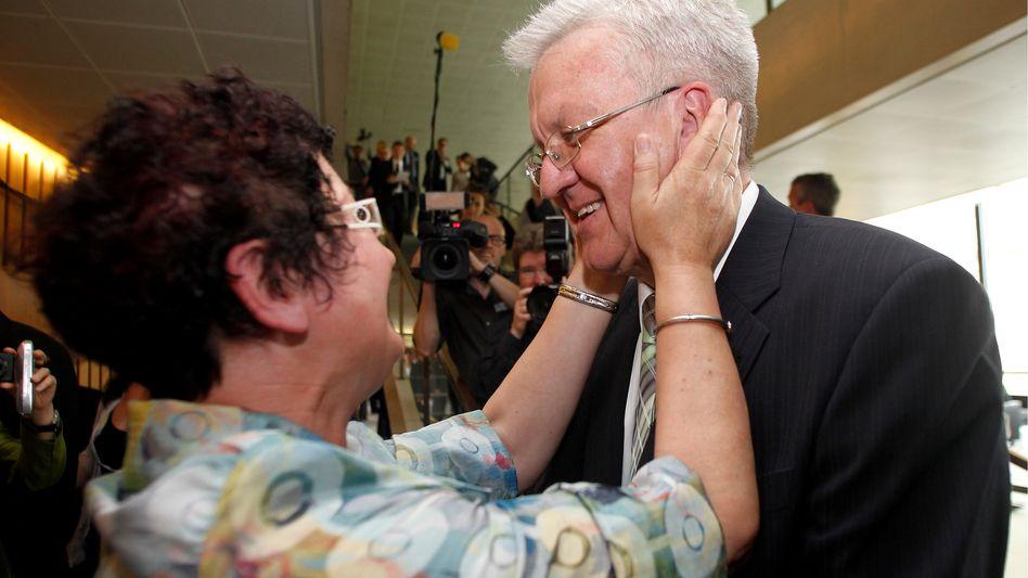 Grüner Ministerpräsident Kretschmann: Triumph mit Tücken