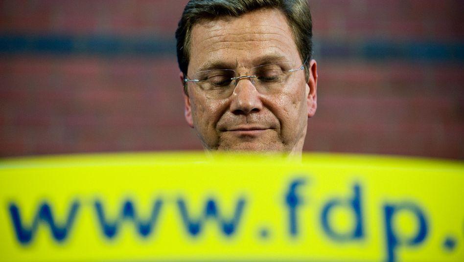 Guido Westerwelle: Der Parteichef der FDP blickt auf schlechte Umfragewerte
