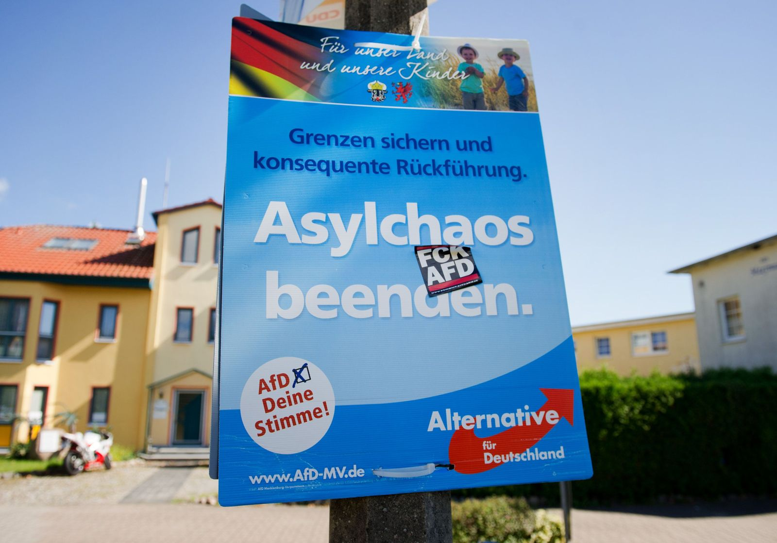 AfD-Plakat auf Usedom
