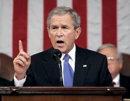 Mahnt zur Unabhängigkeit bei der Energieversorgung: US-Präsident George W. Bush