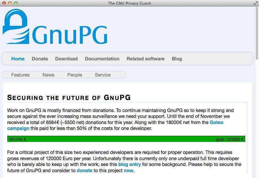 NUR ALS ZITAT Screenshot GnuPG