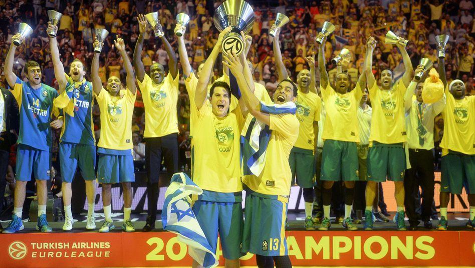 Die Basketballer von Maccabi Tel Aviv: Euroleague-Sieger 2014