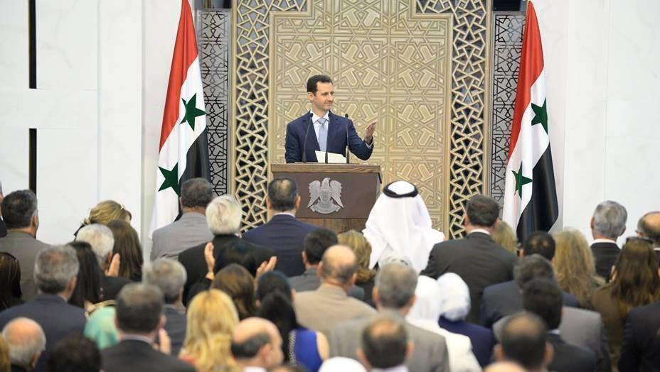 Assad-Ansprache (Internetfoto): Erster Auftritt seit längerer Zeit
