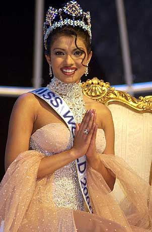 Wieder hat eine Inderin gewonnen: Priyanka Chopra ist Miss World 2000