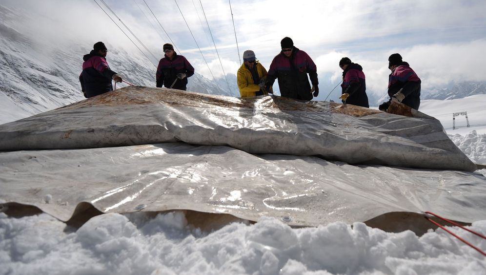 Schadensbegrenzung: Pflaster für schmelzenden Gletscher
