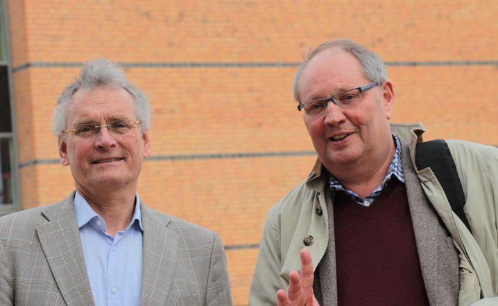 Die Flensburger Bildungsforscher Volker Müller-Benedict (l.) und Gerd Grözinger