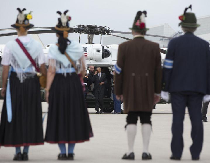 """POTUS sagt """"Servus"""": Obama bei der Abreise aus Bayern"""