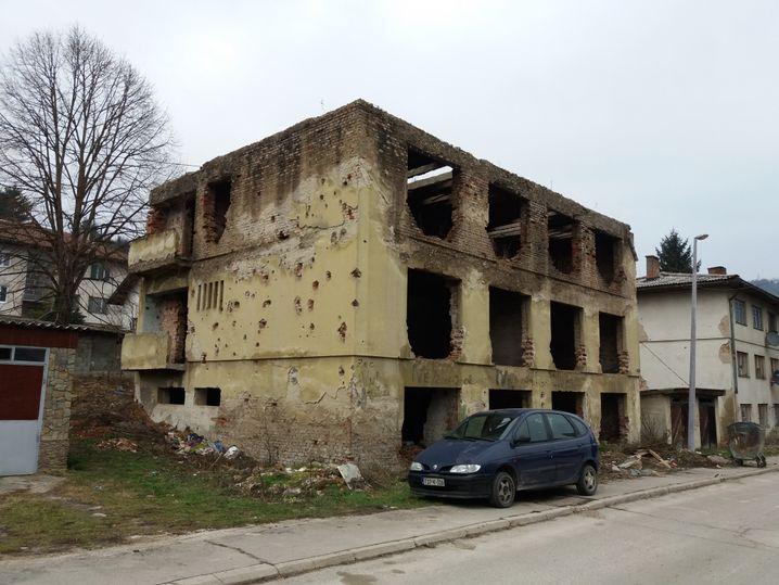 Noch immer sind viele Spuren des Krieges in Jajce zu sehen