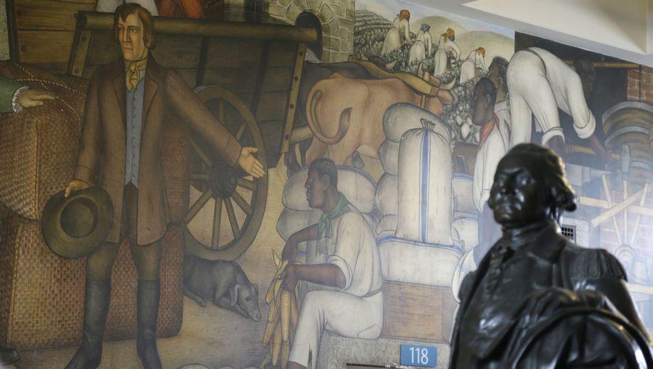 """Wandgemälde von Victor Arnautoff in San Francisco: """"Das ist das Überbleibsel einer vergangenen Ära"""""""