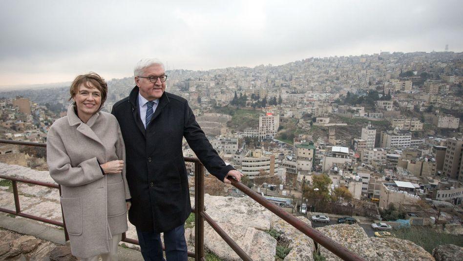 Elke Büdenbender und Frank-Walter Steinmeier in Jordanien