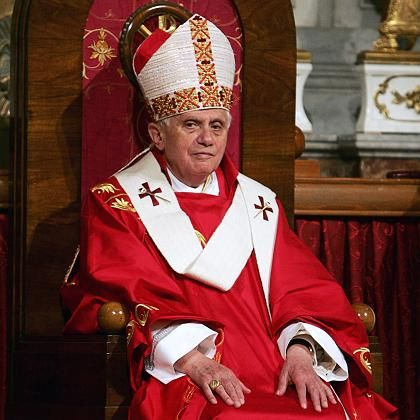 Pope Benedict XVI celebrates a Mass in the Holy Spirit Catholic Cathedral in Istanbul in December 2006.