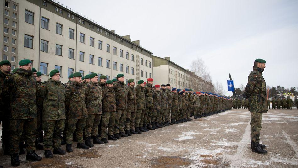Bundeswehrsoldaten in Rukla, Litauen