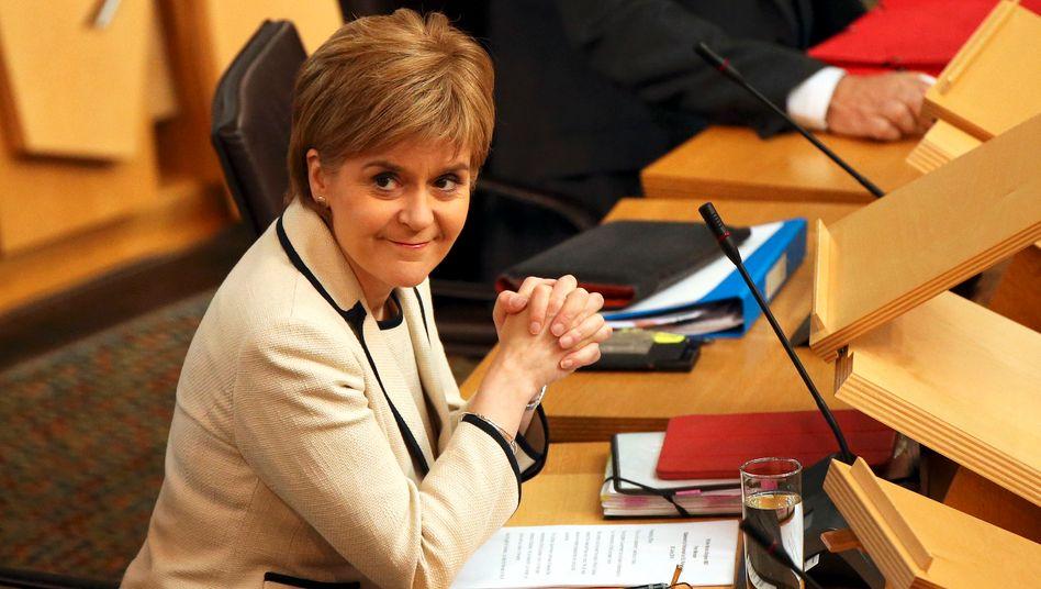 Schottlands Erste Ministerin Nicola Sturgeon von der Scottish National Party (SNP)