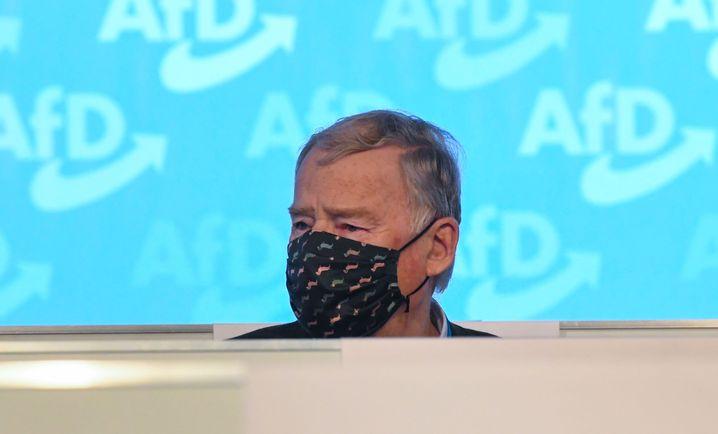 AfD-Ehrenvorsitzender Alexander Gauland am Samstag in Kalkar: Über Meuthens Rede geärgert