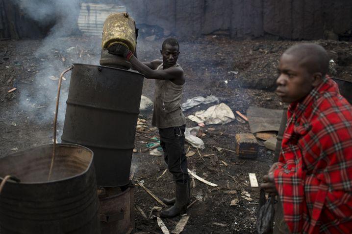 Armut in Kenia: Slum von Nairobi
