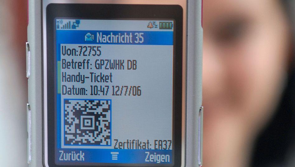 Fahrkarte Auf Handy