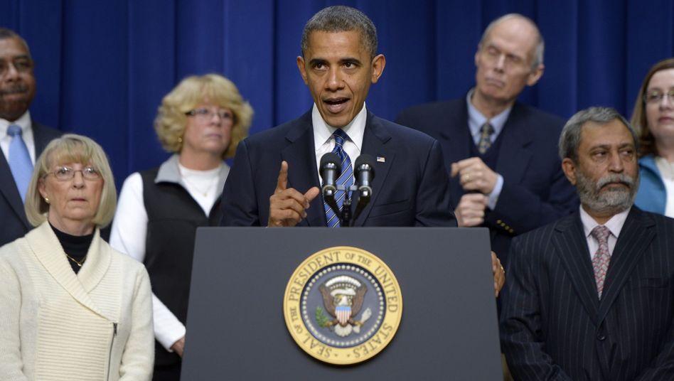 Obama mit Amerikanern der Mittelklasse: Der Wahlkampf geht weiter