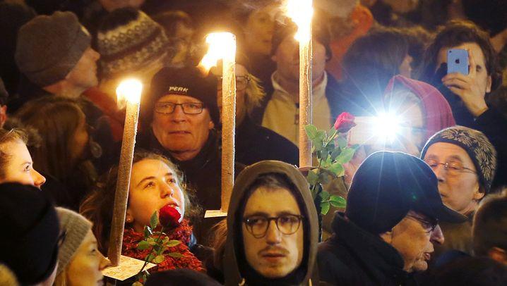 Gedenkfeier in Kopenhagen: 40.000 Menschen trauern