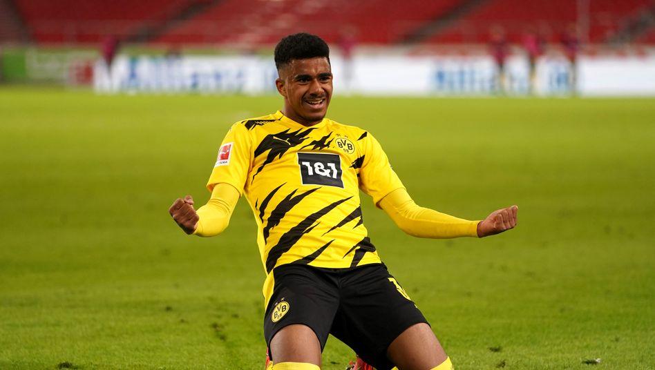 Dortmunds Ansgar Knauff erzielte die Entscheidung in Stuttgart
