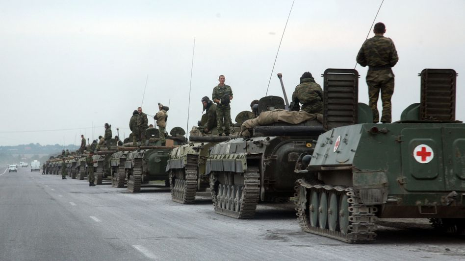 Russische Streitkräfte 2008 in Südossetien