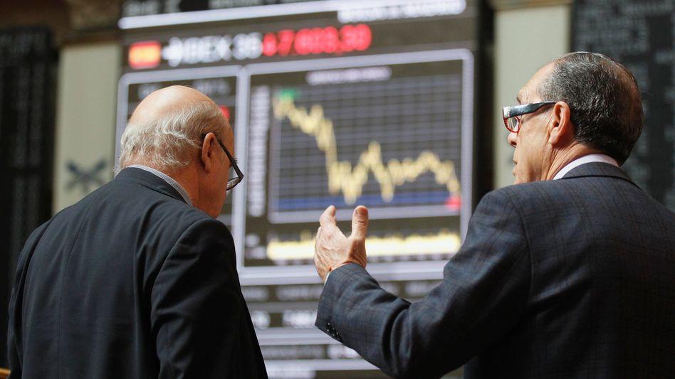 Börse in Madrid: Finanzminister Schäuble stellt sich gegen die Ideen