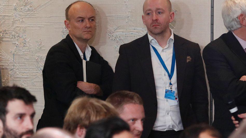 """Dominic Cummings, Chefstratege des britischen Premiers Boris Johnson, und Kommunikationschef Lee Cain: """"Importierte Taktik"""""""