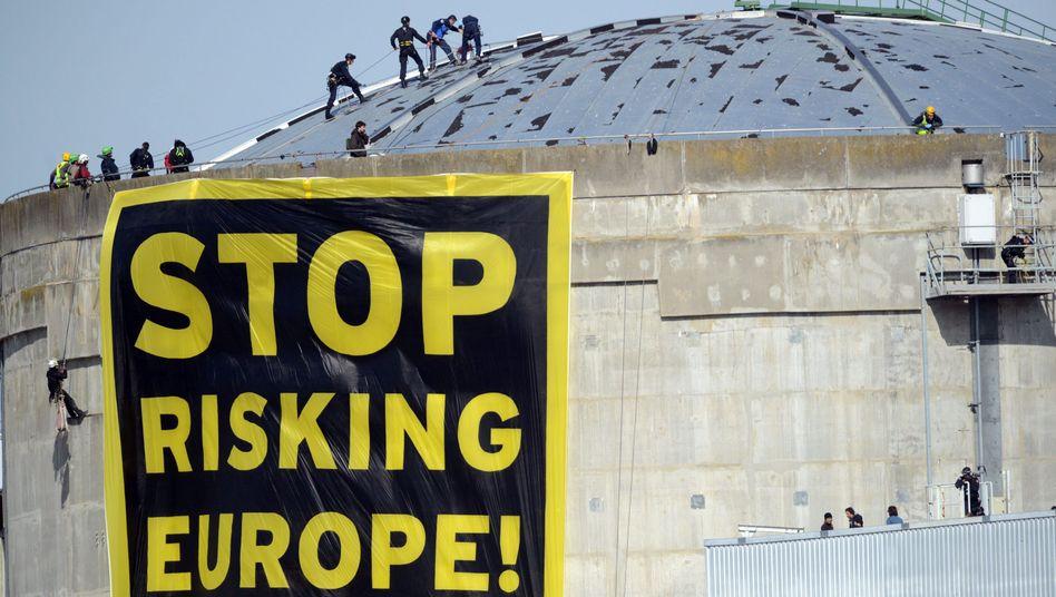 Greenpeace-Protest am Atomkraftwerk Fessenheim: Schließung in Sicht