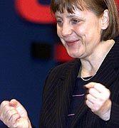 Mit voller Zuversicht auf dem Parteitag: Angela Merkel