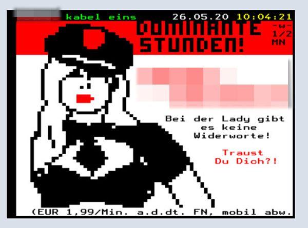 Sex-Werbung im Videotext
