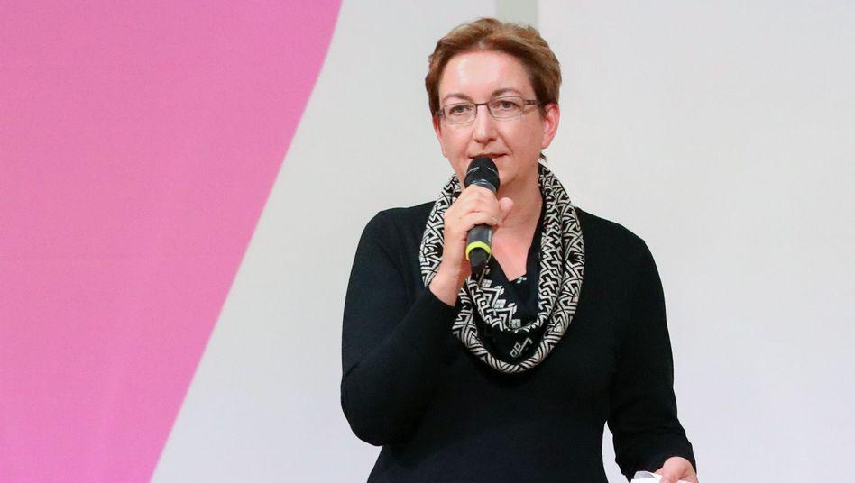 Klara Geywitz am Freitag bei der SPD-Regionalkonferenz in Neubrandenburg