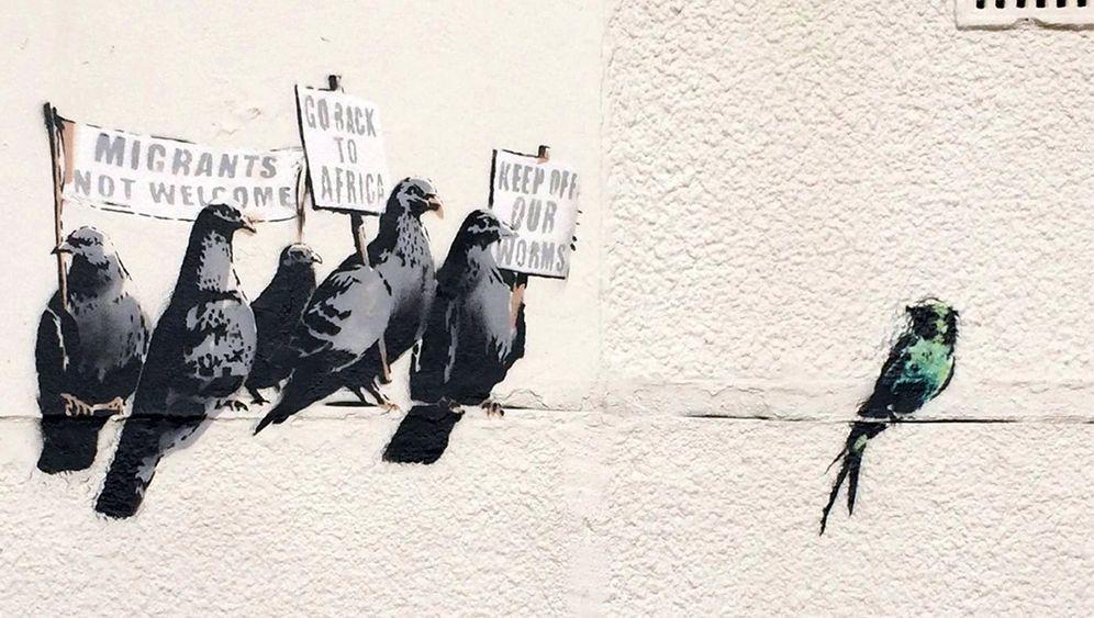 Entferntes Banksy-Wandgemälde: Provinzposse in Clacton-on-Sea