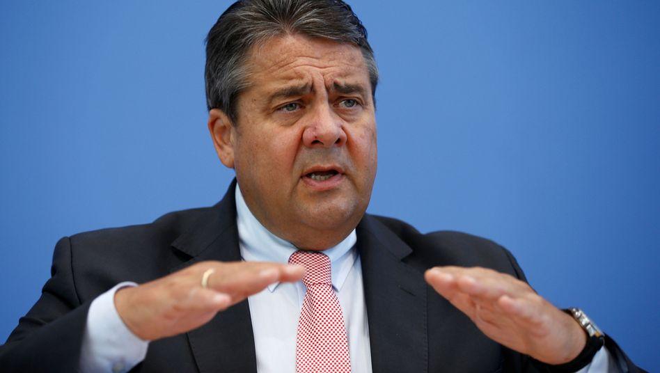 Sigmar Gabriel auf einer Konferenz in Berlin am 8. Juni 2016