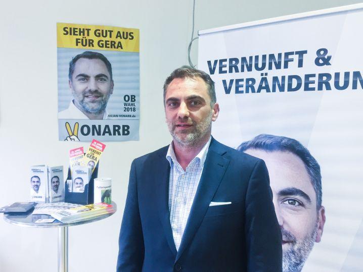 Julian Vonarb, Kandidat Oberbürgermeister Gera