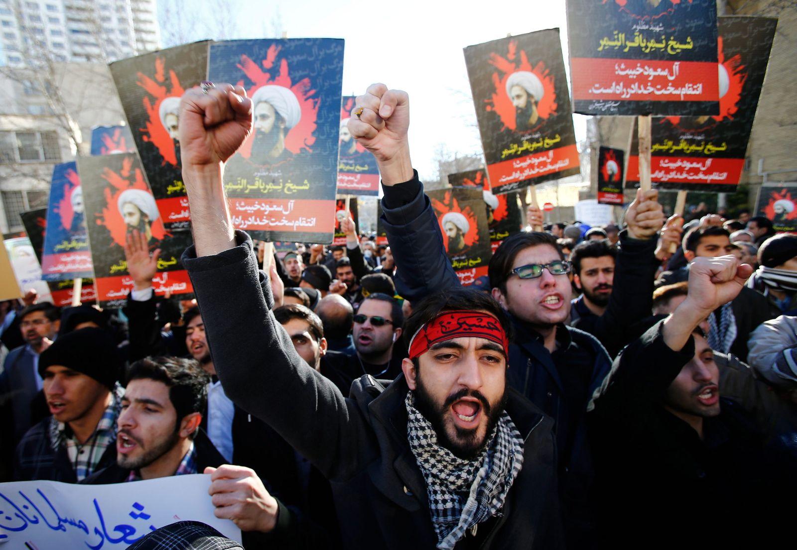 Proteste Teheran / Saudi-Arabien, Iran