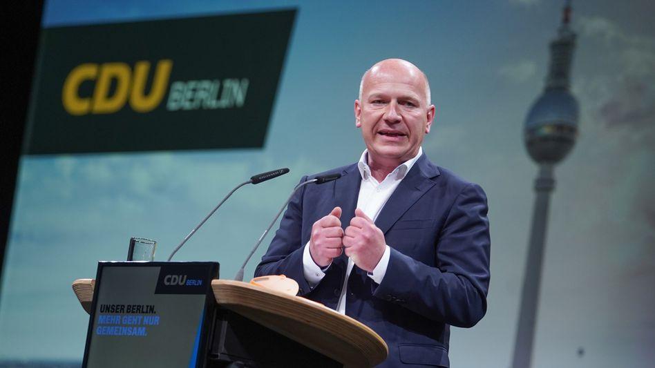 Spitzenkandidat Wegner: Ziel ist Vorbildrolle für die Republik