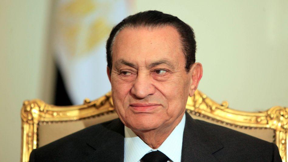Hosni Mubarak am 8. Februar 2011 - drei Tage später trat er zurück