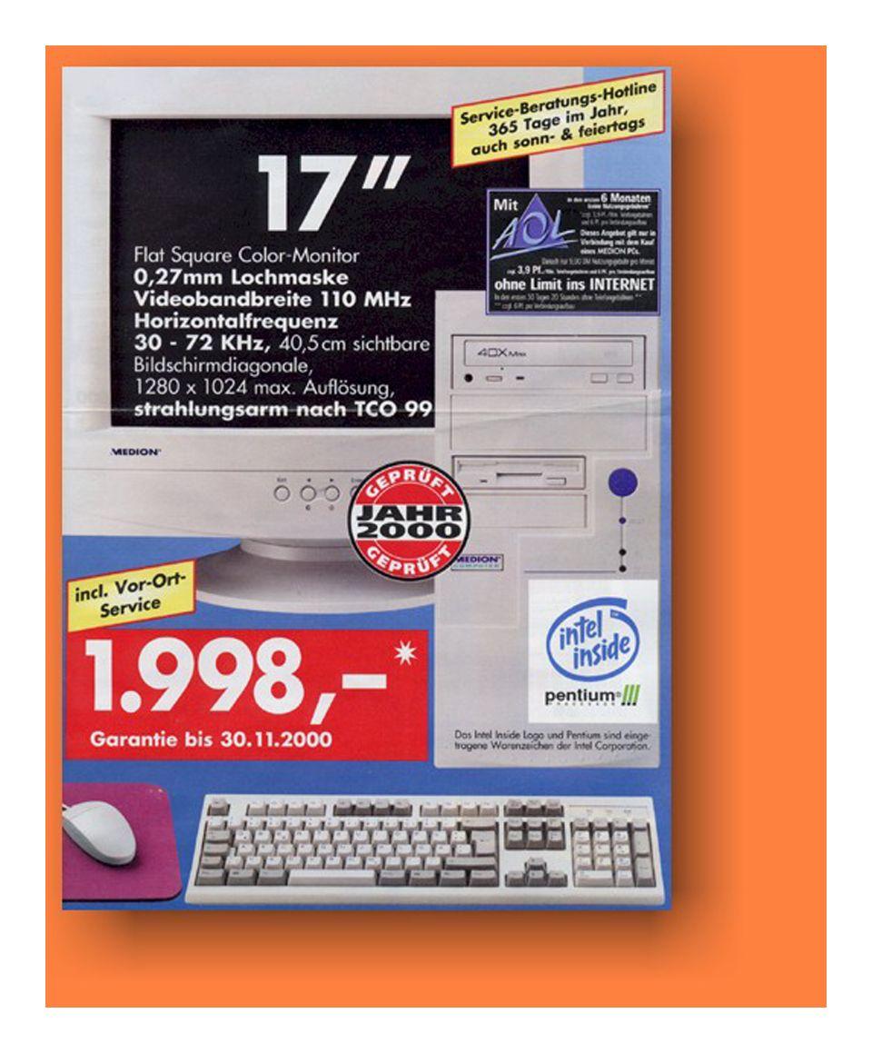 EINMALIGE VERWENDUNG SPON20/ Aldi PC