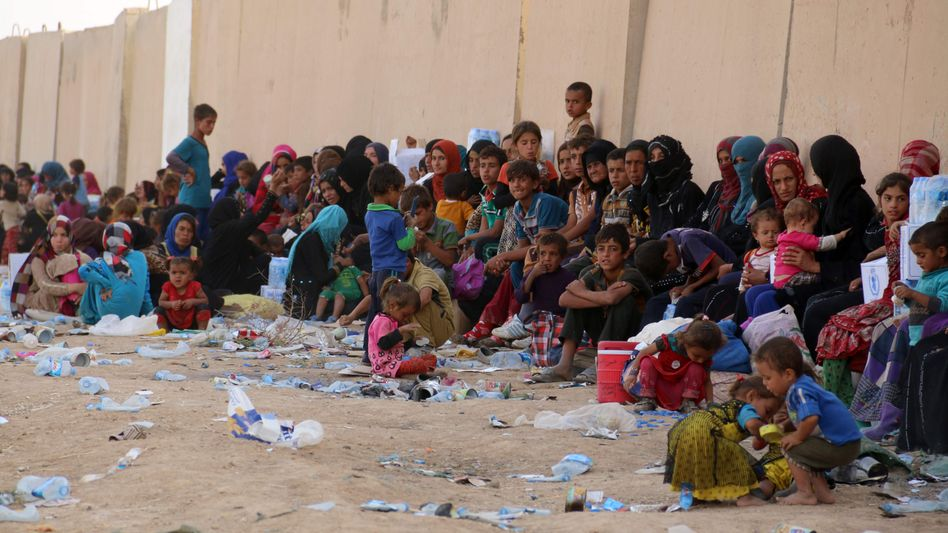Flüchtlinge bei Kirkuk