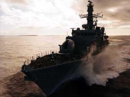 Die HMS Sutherland war nach Angaben des britischen Verteidigungsministeriums an der Abfang-Aktion beteiligt