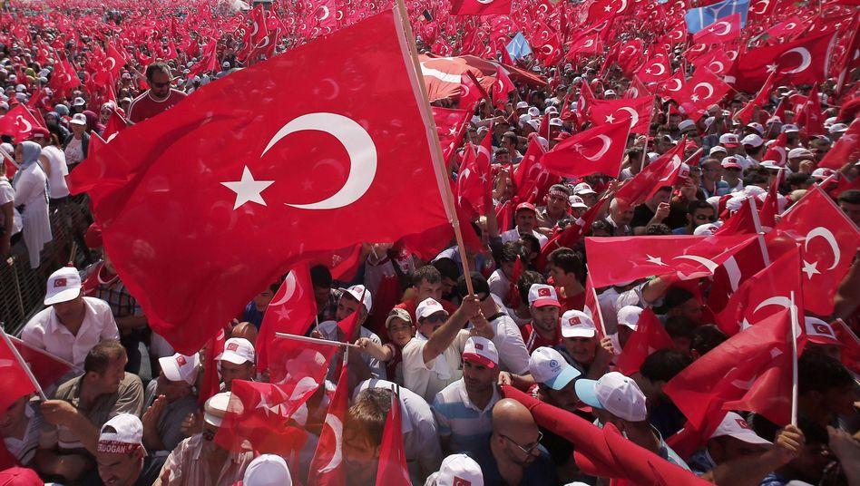 Kundgebung in Istanbul im August