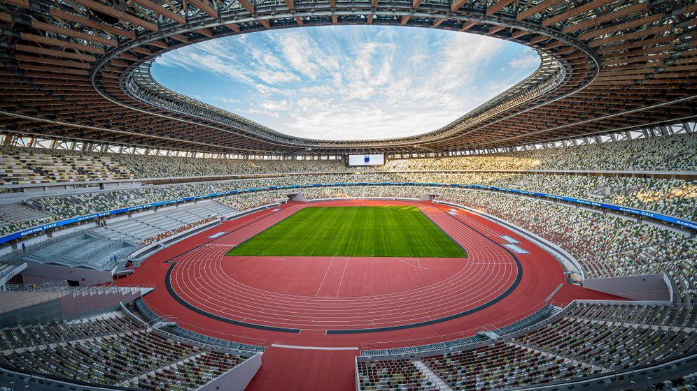 Das neue Nationalstadion in Tokio, ein Gemeinschaftsprojekt der Büros von Kengo, Taisei Corporation und Azusa Sekkei